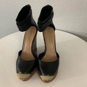 $99 BCBG wedge shoes size 8.5 or 38.5